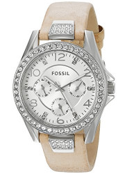 Fossil Women's Riley Light Brown Leather Watch ES3889