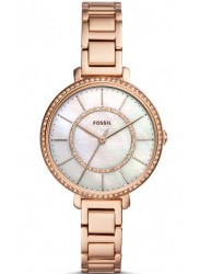 Fossil Women's Jocelyn Mother of Pearl Dial Rose Gold Tone Stainless Steel Watch ES4452