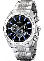 Festina Men's Chrono Sport Black Dial Stainless Steel Watch F16488/3