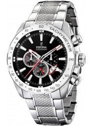 Festina Men's Chrono Sport Black Dial Stainless Steel Watch F16488/5