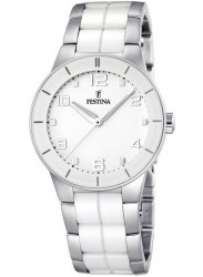 Festina Women's White Dial Two-Tone Ceramic Watch F16531/1