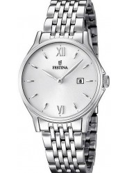 Festina Women's Classic Metal Silver Dial Stainless Steel Watch F16748/2