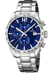 Festina Men's Timeless Chrono Blue Dial Stainless Steel Watch F16759/3