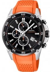 Festina Men's The Originals Chronograph Black Dial Orange Silicone Watch F20330/4