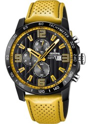 Festina Men's The Originals Chronograph Black Dial Yellow Leather Watch F20339/3