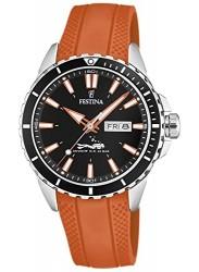 Festina Men's The Originals Black Dial Orange Silicone Watch F20378/5