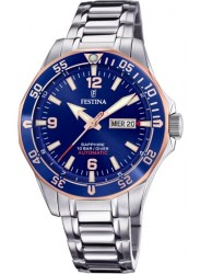 Festina Men's Automatic Blue Dial Stainless Steel Watch F20478/3