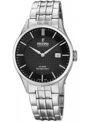 Festina Men's Swiss Made Black Dial Stainless Steel Watch F20005/4