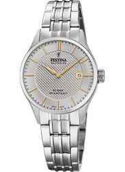Festina Women's Swiss Made Silver Dial Stainless Steel Watch F20006/2