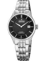 Festina Women's Swiss Made Black Dial Stainless Steel Watch F20006/4