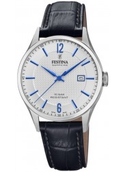 Festina Men's Swiss Made White Dial Stainless Steel Watch F20007/2