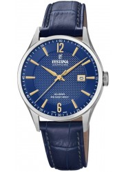 Festina Men's Swiss Made Blue Dial Blue Leather Watch F20007/3