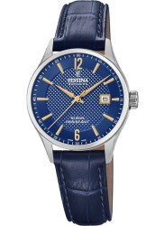 Festina Women's Swiss Made Blue Dial Blue Leather Watch F20009/3