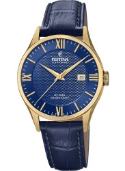 Festina Men's Swiss Made Blue Dial Blue Leather Watch F20010/3