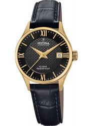 Festina Women's Swiss Made Black Dial Black Leather Watch F20011/4