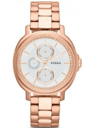 Fossil Chelsey Silver Dial Rose Gold Stainless Steel Watch ES3353