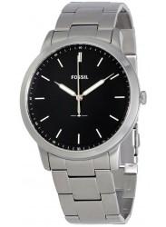 Fossil Men's Minimalist Black Dial Stainless Steel Watch FS5307