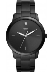 Fossil Men's Minimalist Carbon Black Dial Black Stainless Steel Watch FS5455