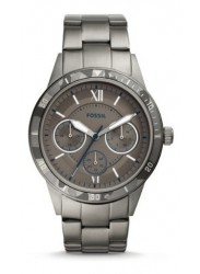 Fossil Men's Flynn Chronograph Smoke Dial Smoke Stainless Steel Watch BQ2342