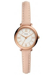 Fossil Women's Jacqueline Mini White Dial Pink Leather Watch ES4411