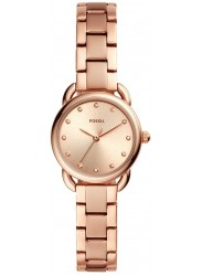 Fossil Women's Tailor Mini Rose Gold Dial Rose Gold Stainless Steel Watch ES4497