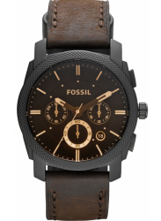 Fossil FS4656 Men's Machine Flight Leather Strap Analog with Brown Dial Watch