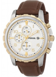 Fossil Men's Dean Chronograph Brown Leather Watch FS4788