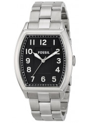 Fossil Men's Narrator Black Dial Stainless Steel Watch FS4881