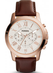 Fossil Men's Grant Chronograph Brown Leather Watch FS4991