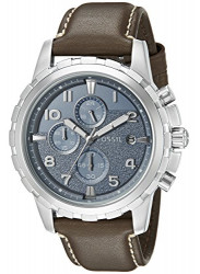 Fossil Men's Dean Chronograph Brown Leather Watch FS5022