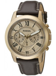 Fossil Men's FS5107 Grant Chronograph Leather Watch