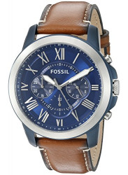 Fossil Men's Grant Chronograph Light Brown Leather Watch FS5151