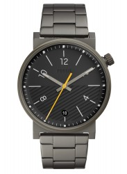 Fossil Men's Barstow Black Dial Grey Stainless Steel Watch FS5508