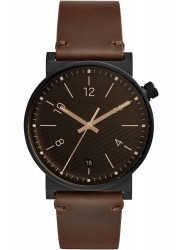 Fossil Men's Barstow Brown Dial Brown Leather Watch FS5552