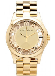 Marc by Marc Jacobs Women's Henry Skeleton Gold Dial Watch MBM3206