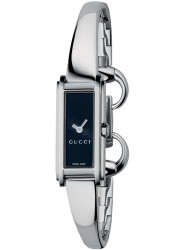 Gucci Women's G-Line 109 Black Dial Stainless Steel Watch YA109522