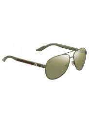 1672024d071 Gucci Women s Aviator Full Rim Green Plam Sunglasses GG 2898 S SI7 DT