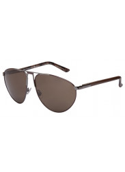 Gucci Unisex Aviator Full Rim Brown Gunmetal Sunglasses GG 2212/S 50V/SP