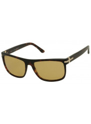 Gucci Unisex Full Rim Havana Brown Sunglasses GG 1027/S TVD/BZ