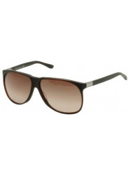 Gucci Unisex Oversized Full Rim Brown Sunglasses GG 1002/S 806/J6