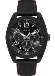 Guess Men's Dash Chronograph Black Dial Black Silicone Watch W1256G1
