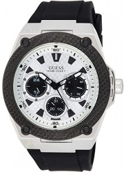 Guess Men's Legacy Chronograph White Dial Black Rubber Watch W1049G3