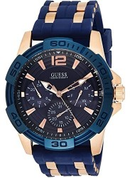 Guess Men's Oasis Chronograph Blue Dial Two Tone Watch W0366G4