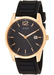 Guess Men's Perry Black Dial Black Rubber Watch W0991G7