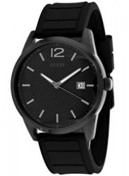 Guess Men's Perry Black Dial Black Rubber Watch W0991G3