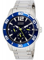 Guess Men's Trek Chronograph Blue Dial Stainless Steel Watch W1249G2