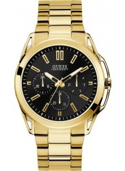 Guess Men's Vertex Chronograph Black Dial Gold Stainless Steel Watch W1176G3