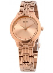 Guess Women's Chelsea Rose Gold Dial Rose Gold Stainless Steel Watch W0989L3