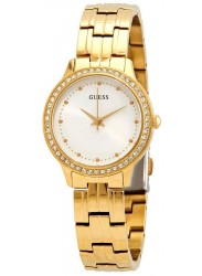 Guess Women's Chelsea Silver Sunray Dial Gold Stainless Steel Watch W1209L2