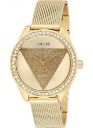 Guess Women's Glitz Gold Crystal Dial Gold Stainless Steel Watch W1142L2